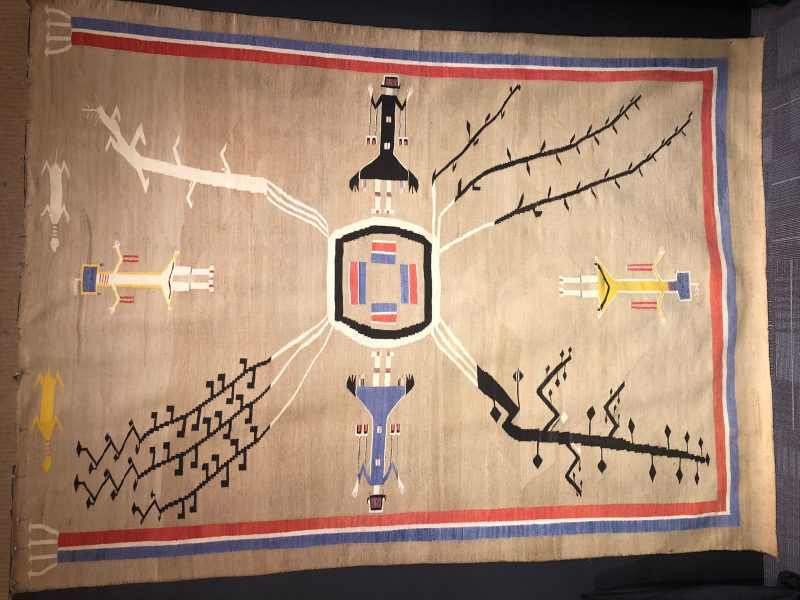 navajo native american rug indian sand painting