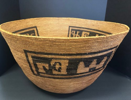 Native American Mission Basket with Letters/Church Design  BEW#1106