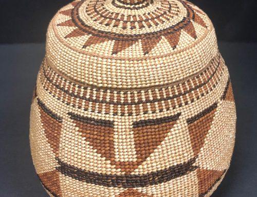 Hupa Area Possibly Karuk 1920s Lidded Basket BEW #1107