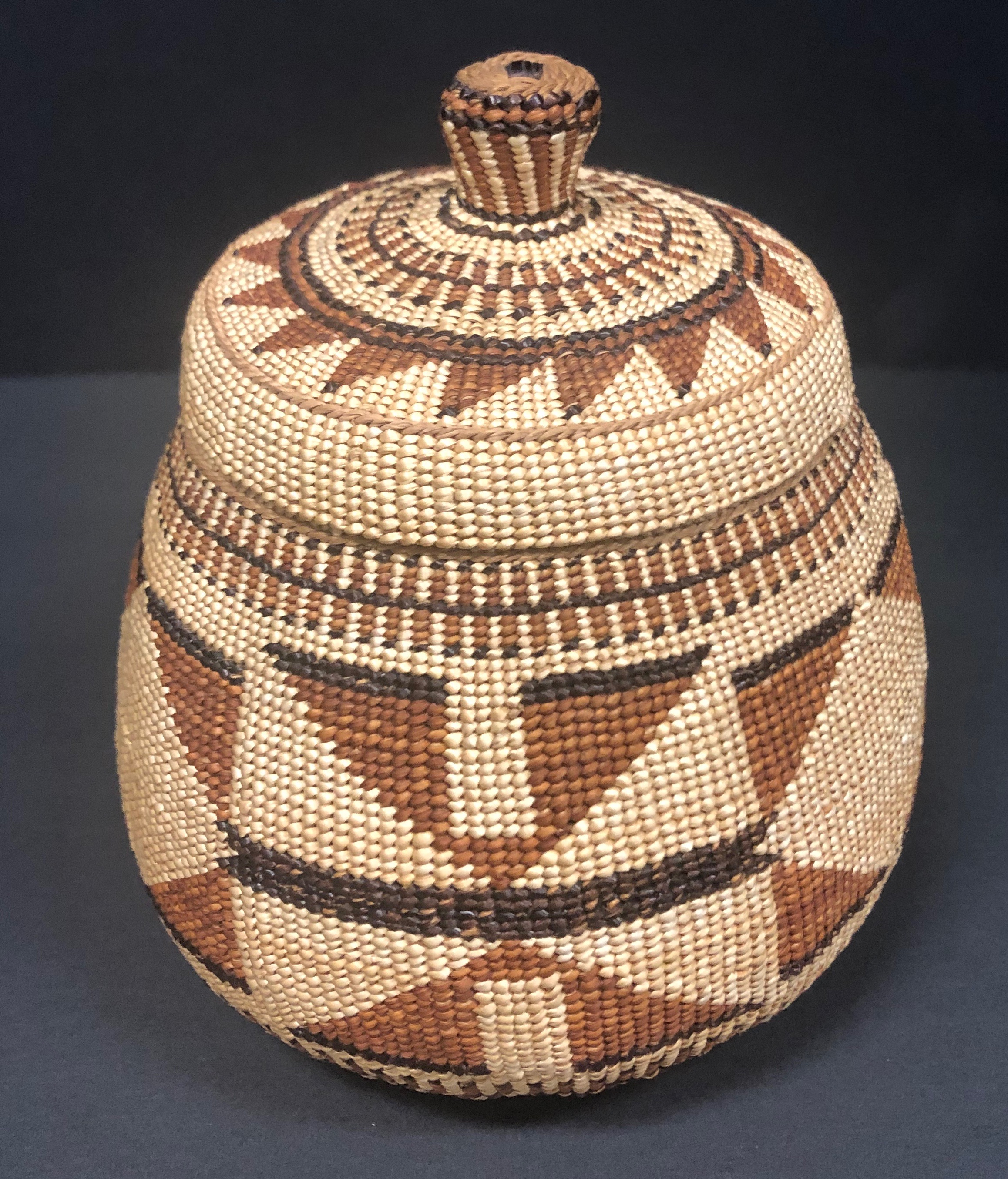Hupa Area Karuk Native American Indian Basket for Sale at Red Mesa Gallery Image 001