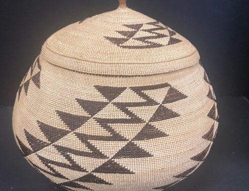 Northwest California Lidded Basket BEW #1109