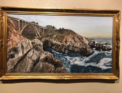 Palette Knife Painting Big Sur Carmel Area by Jeff Voracek BEW #1111