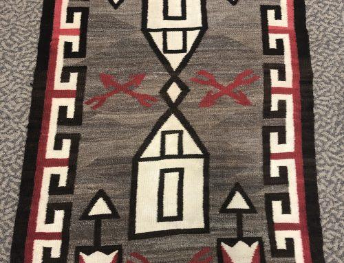 Navajo Ganado Rug with Houses BEW#1110