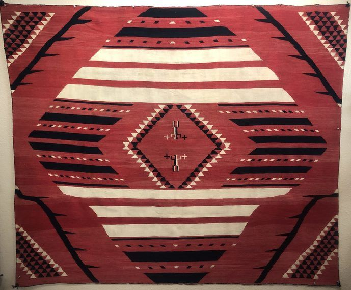 Excellent Navajo Indian Rug Weaving For sale