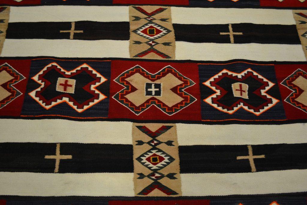 Antique Navajo Rug Weaving Antique Native American Art for Sale Red Mesa Gallery Rocklin CA Image 001