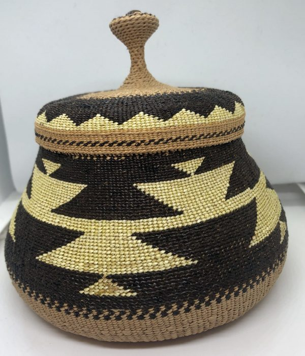 Native American, Elizabeth Hickox, Karok, Lidded Basket