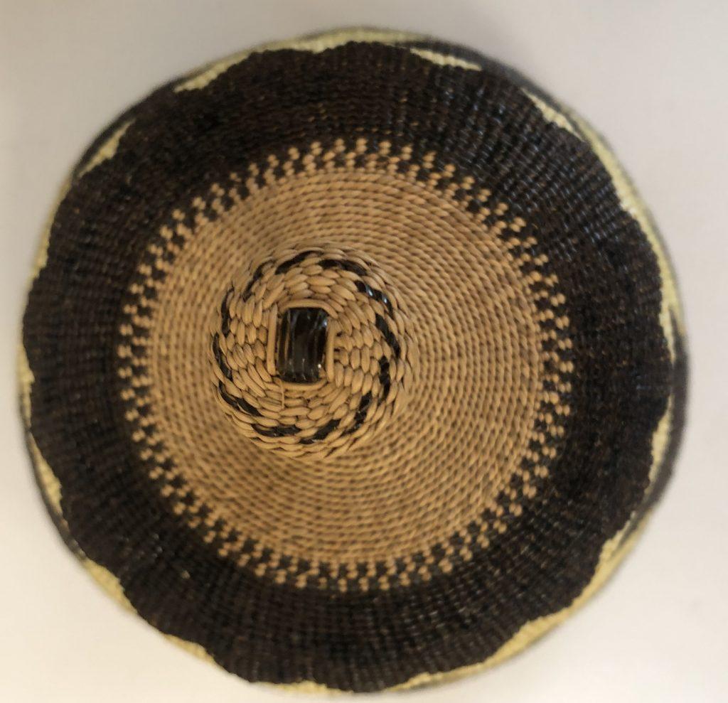 Elizabeth Hickox, Native American Karok, Lidded Basket