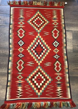 A Germantown Navajo Blanket in excellent condition. Circa 1880-1900.