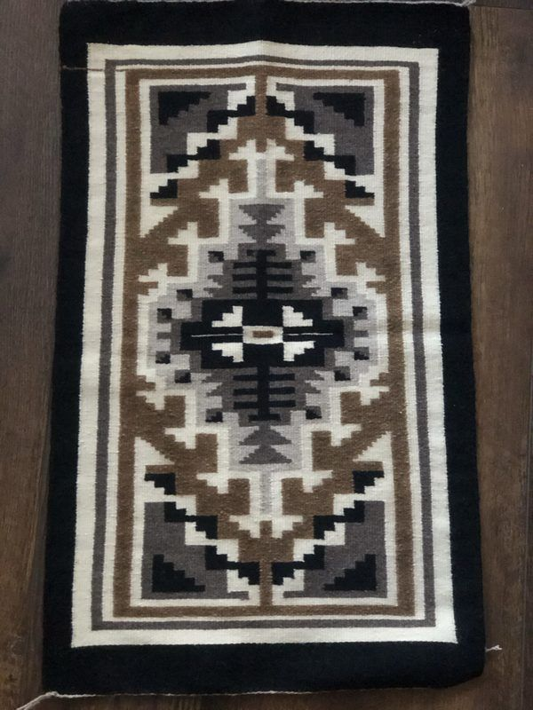 A very nice Navajo Two Grey Hills Rug. Finely woven and in excellent condition.