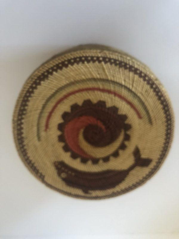 "A very nice Native American McCaw lidded basket in good condition. 6 1/2"" X 4 1/2"""