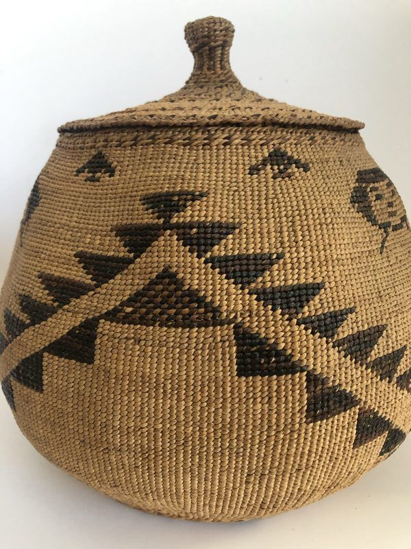 A Native American Modoc Captain Jack Basket. This is a very nice piece in very good condition - just one minor stain on the bottom (see pictures). Feel free to call or email for more information or additional pictures.
