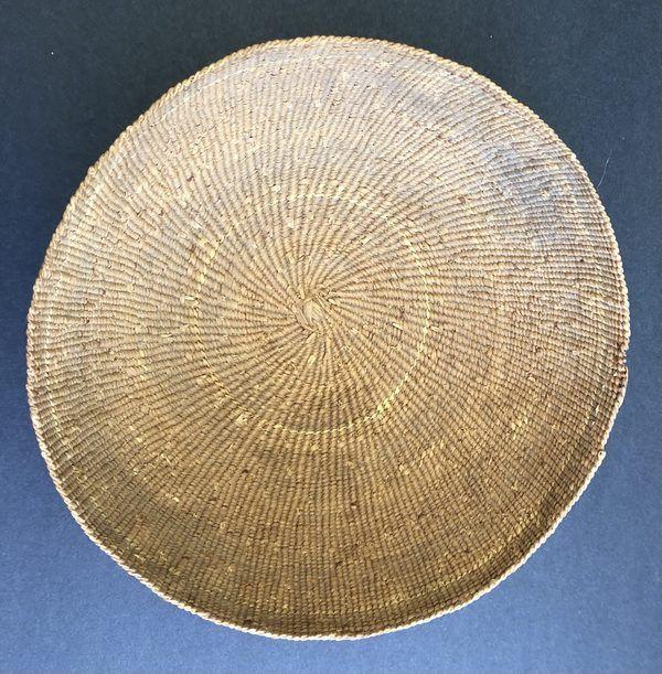 "1920s Hupa Karuk Yurok Basket Hat Circa 1900 to 1920s Measures just over 7 1/4"" in diameter"
