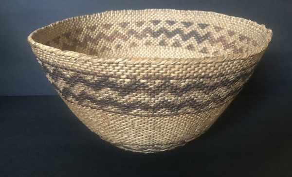 "A Native American large Paiute basket in excellent condition. Circa 1920s Measures 9"" wide x 5 1/2"" tall"
