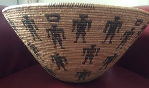 Circa 1900 Native American Panamint basket in excellent condition