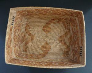 Mission Basket with Snake Design