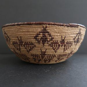 Rare 1900-1920s Maidu Basket with Butterfly Design