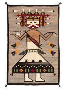 Navajo Polik Mana Pictorial Rug